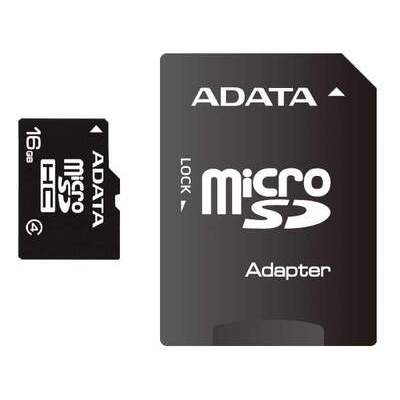 A-Data 16gb Class 4 Mciro Sdhc W/ Adatapter (AUSDH16GCL4-RA1)