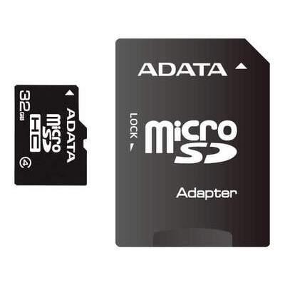 A-Data 32gb Class 4 Mciro Sdhc W/ Adatapter (AUSDH32GCL4-RA1)
