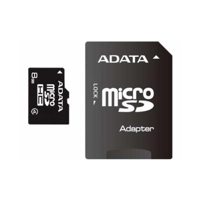 A-Data 8gb Class 4 Mciro Sdhc W/ Adaptor (AUSDH8GCL4-RA1)