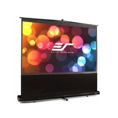 Elite Screens Floor Pull Up Screen 84 In 16:9 (F84NWH)