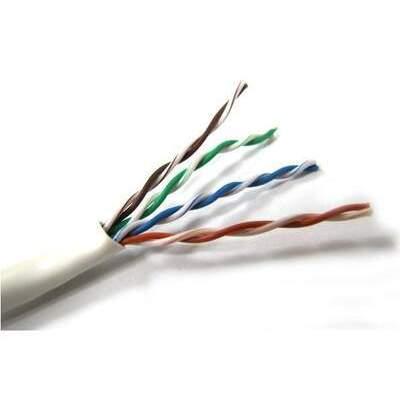 Weltron T2404L6P-BL 1000ft Blue Plenum Cat6 Cable 550mhz
