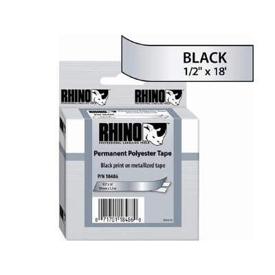 DYMO Rhino 1/2 Metallized Permanent Labels (18486)