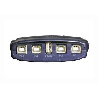 C2G 4-port Usb 2.0 Manual Switch Blue (30506)