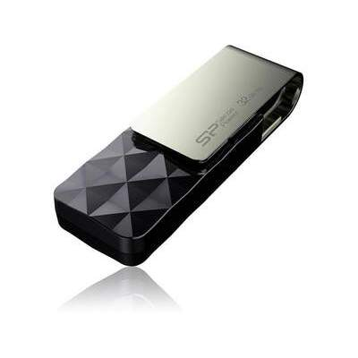 Silicon Power Computer & Communications Sp Blaze B30 32gb Usb 3.0 Drive Black (SP032GBUF3B30V1K)