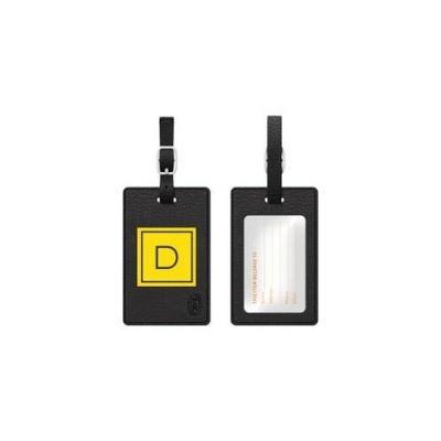 Centon Electronics Otm Monogram Black Leather Bag Tag, Inve (TAGV1BLK-M06E-D)