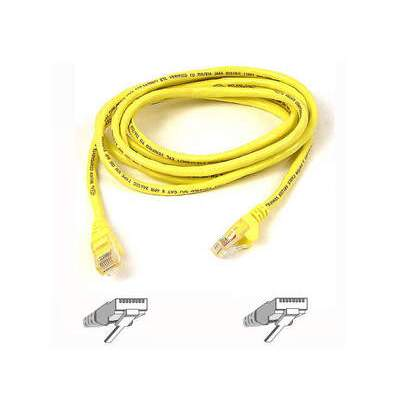 Belkin Components Cat6 Patch Cable Rj45m/rj45m 1ft Yellow (A3L980-01-YLW-S)