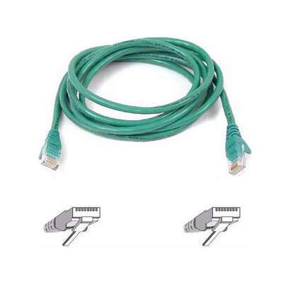 Belkin Components Cat6 Snagless Patch Cable (A3L980B07-GRN-S)