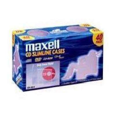 Maxell Jewel Cases 40pk Slim Line Clear 5mm (190074)