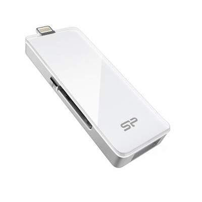 Silicon Power Computer & Communications 64gb Dual Usb 3.0 Flash Drive Xdrive Z30 (SP064GBLU3Z30V1W)