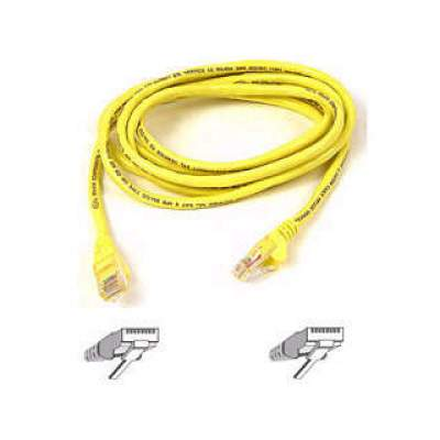 Belkin Components 7ft Cat6 Snagless Patch Cable Yellow (A3L980-07-YLW-S)