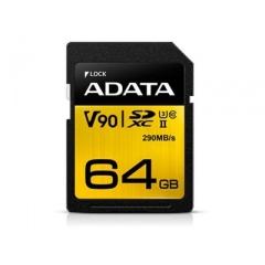A-Data Adata 64gb Uhs-ii U3 Class10 Sdxc 290/26 (ASDX64GUII3CL10-C)
