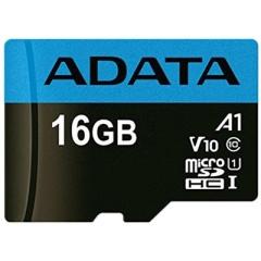 A-Data Adata 16gb Premier Micro Sdhc W/ Adaptor (AUSDH16GUICL10A1-RA1)