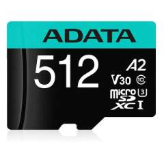 A-Data Adata 512g Microsdxc Uhs-i U3 Class 10 (AUSDX512GUI3V30SA2-RA1)