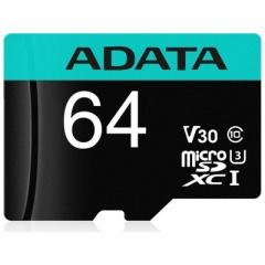 A-Data Adata 64g Microsdxc Uhs-i U3 Class 10 (AUSDX64GUI3V30SA2-RA1)