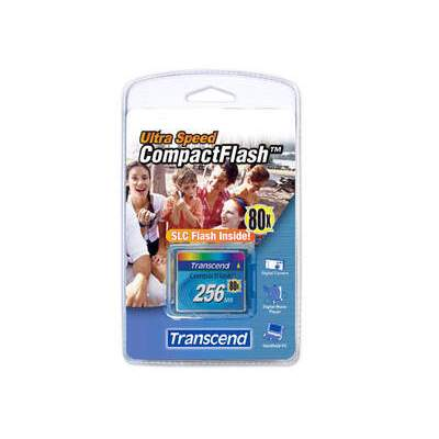 Transcend Flash Memory Card 256 Mb 80x Cf (TS256MCF80)