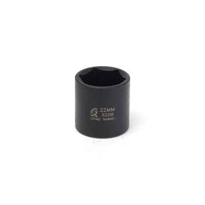 "Sunex Tools 3/8"" Dr 22mm Impact Socket (322M)"