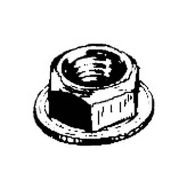W & E Fasteners 6mm Hex Flange Nut (5941)
