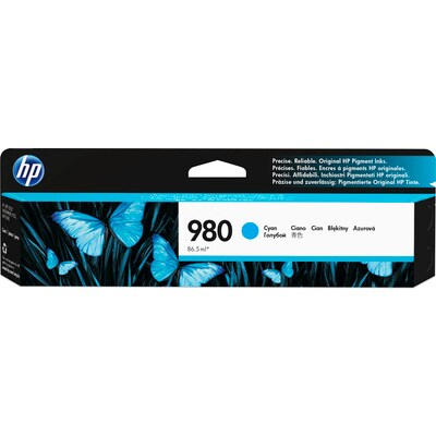 HP 980 Cyan Original Ink Cartridge for US Government (HEWD8J07AG)